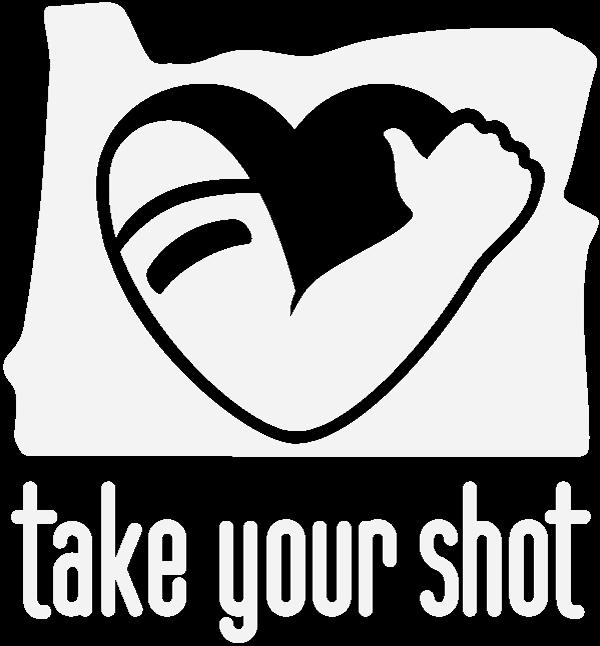 take your shot Oregon logo